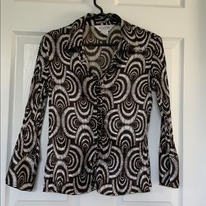 Allison Taylor Crinkled Fabric Blouse - Small.